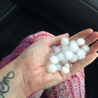 Regina, SK, Canada gifted us hail, thunder & lightening that further attuned our BLESSED EARTH CRYSTALS