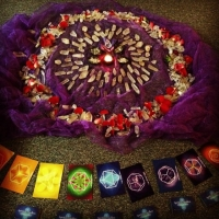 Our first BLESSED EARTH CRYSTAL grid in Virginia USA