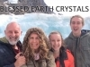 'Selfie' shot of our family just after releasing our BLESSED EARTH CRYSTALS on Athabasca Glacier... this glacier melts water into the Pacific, Atlantic & Antartic Oceans ♡