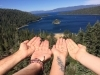 Released our BLESSED EARTH CRYSTALS in Lake Tahoe (California/Nevada).