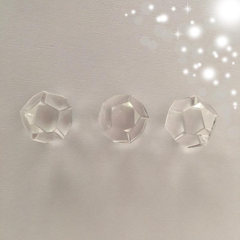 Platonic Solids Dodecahedron Clear Quartz