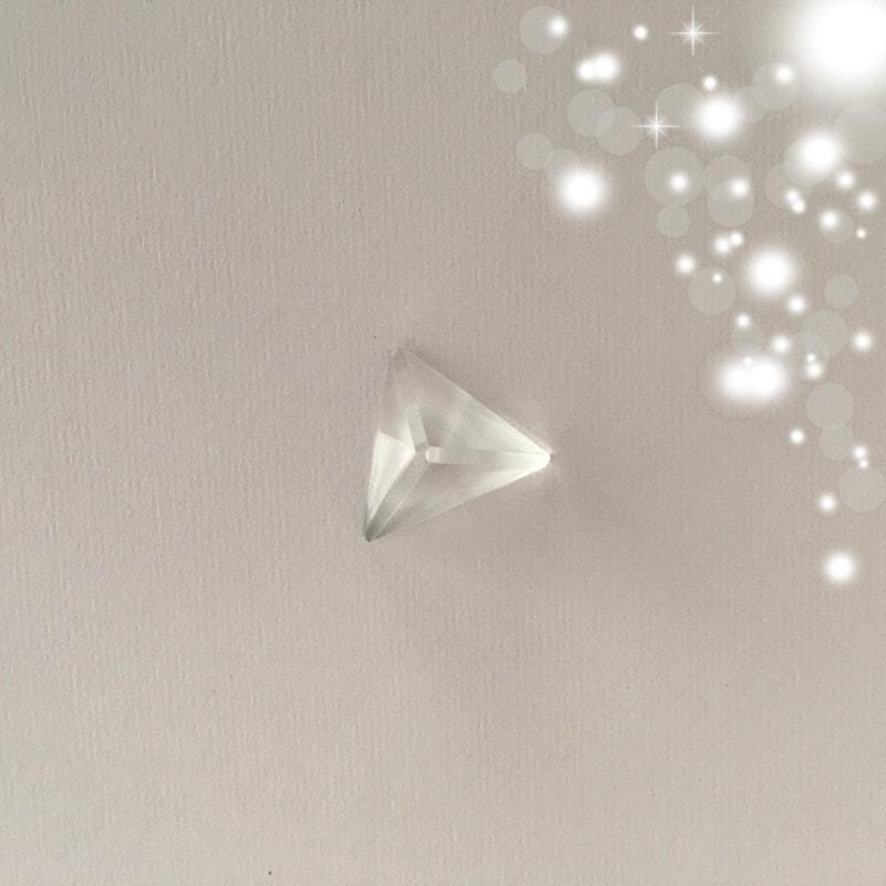 Platonic Solids Tetrahedron Clear Quartz