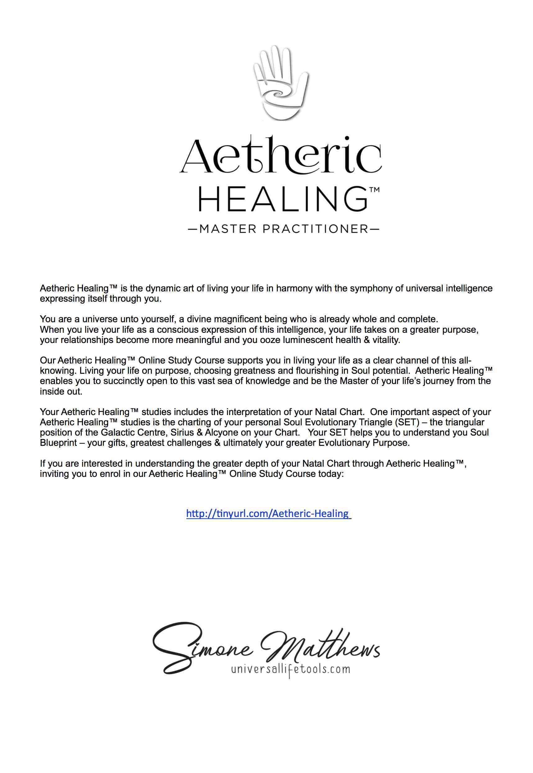 Aetheric Healingastrology Reportinclusive Solar Return Simone M