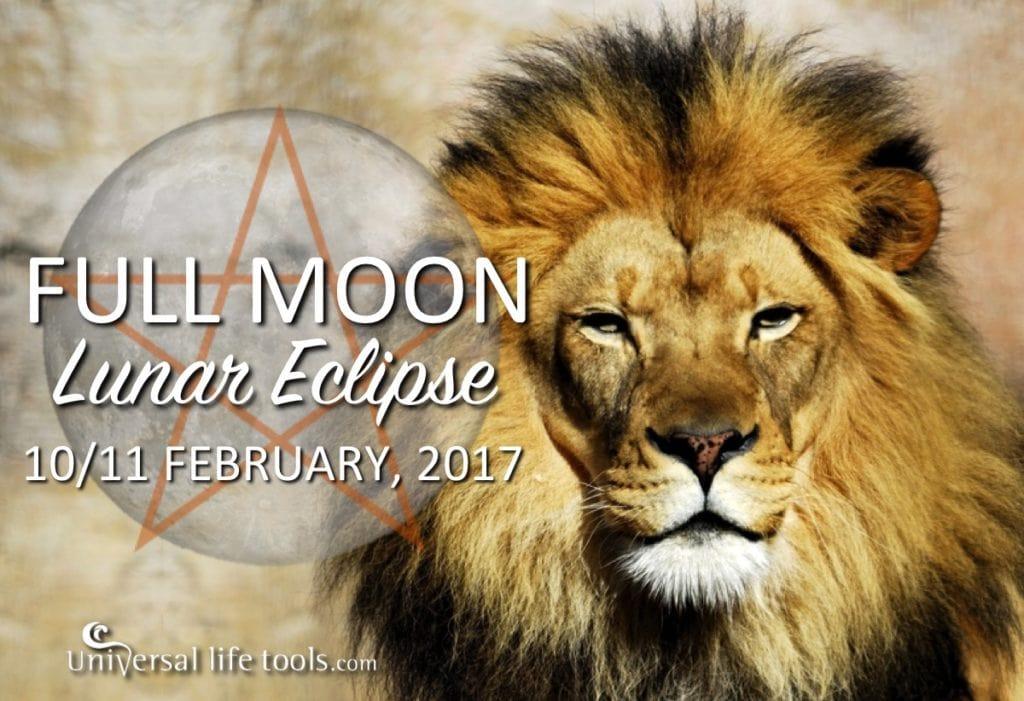 Full Moon Leo Luner Eclipse february 2017 energy