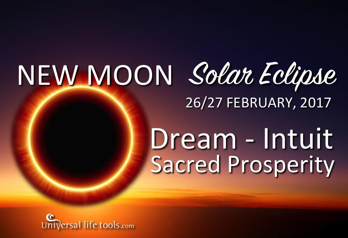 New Moon + Solar Eclipse – February 26/27, 2017 - Simone M