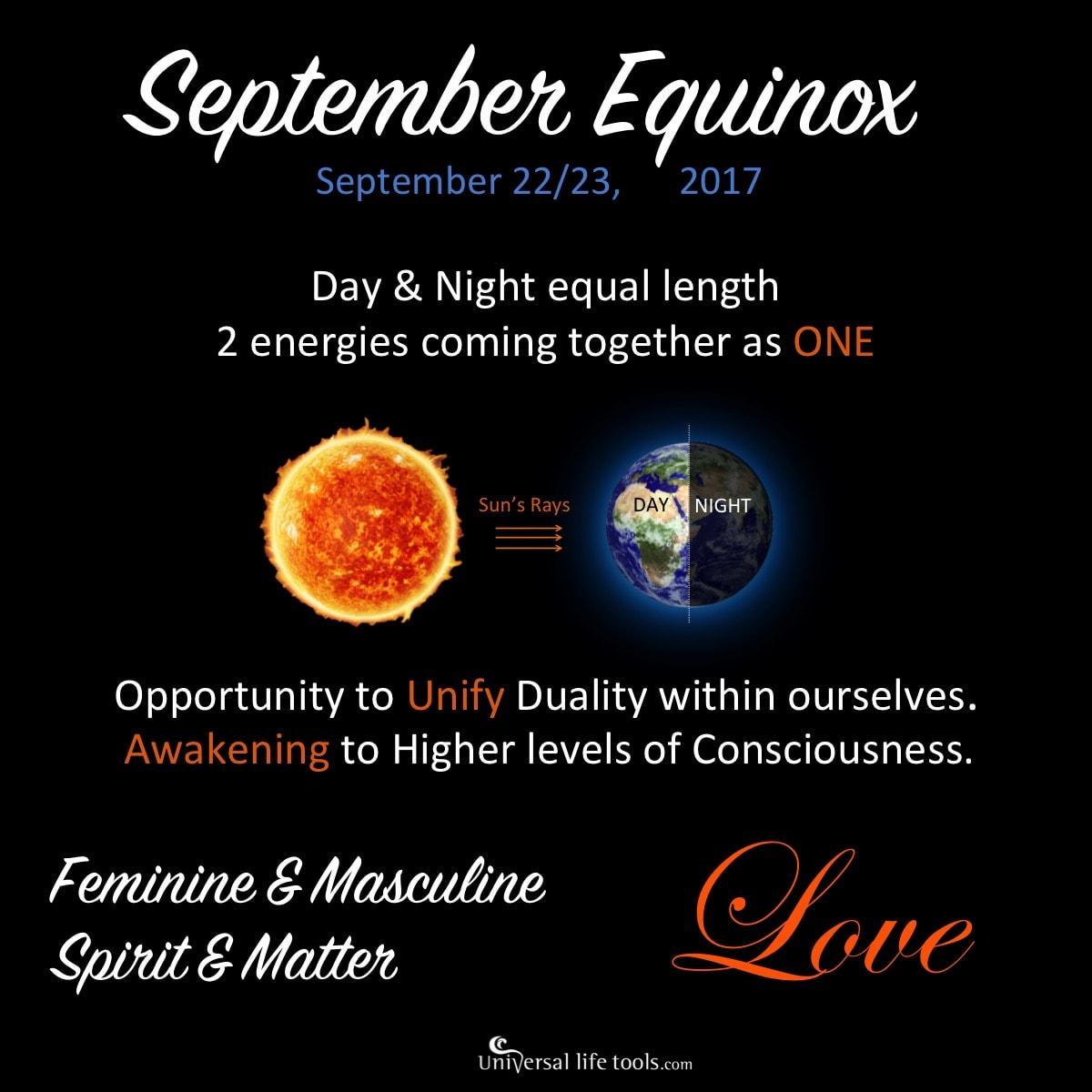Spring/Autumn Equinox - Sept 2017