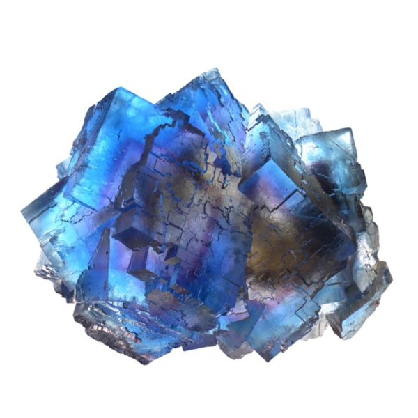 Elestiated Fluorite Blue