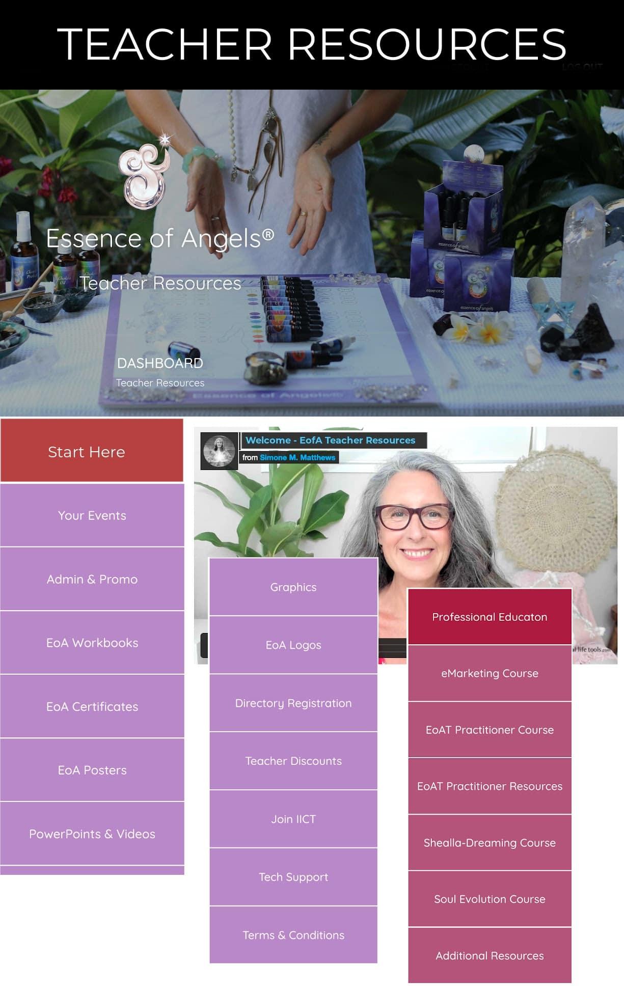 Essence of Angels TEACHER Resources New Platform HOME new